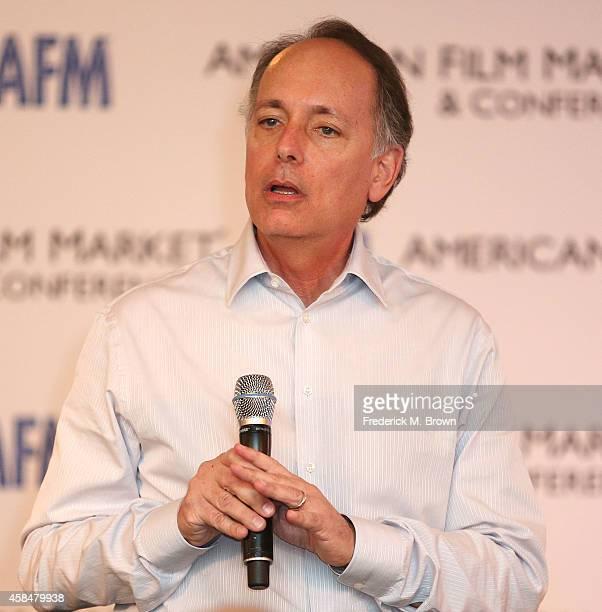 Jonathan Wolf Managing Director of the American Film Market speaks during The 2014 American Film Market at the Loews Santa Monica Beach Hotel on...