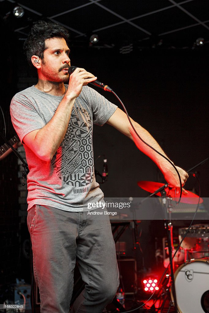 Jonathan 'Yoni' Wolf of Why perform on stage at Brudenell Social Club on May 8 2013 in Leeds England