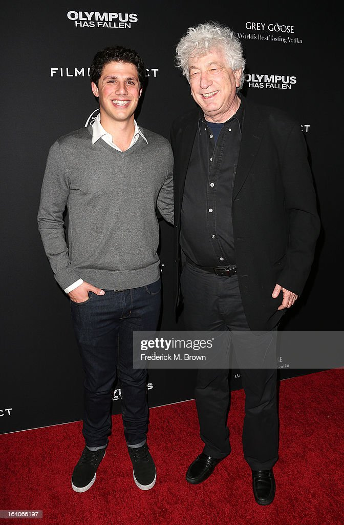 Jonathan Yunger, (L) Creatuve Director/Millennium Films, and Avi Lerner, Co-founder/Chairman/Producer/Millennium Films, attend the Premiere of FilmDistrict's 'Olympus Has Fallen' at the ArcLight Cinemas Cinerama Dome on March 18, 2013 in Hollywood, California.