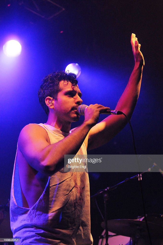 Jonathan'Yoni'Wolf of Why performs on stage at Electric Ballroom on October 9 2012 in London United Kingdom