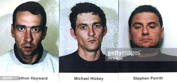 Jonathon Hayward Michael Hickey and Stephen Porritt who were all jailed at the Old Bailey today for an oldstyle robbery plot that targeted security...