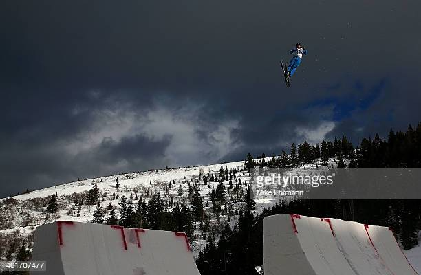 Jonathon Lillis competes during qualifying for the Mens Aerials at the FIS Freestyle Ski World Cup Aerial Competition at Deer Valley on January 10...