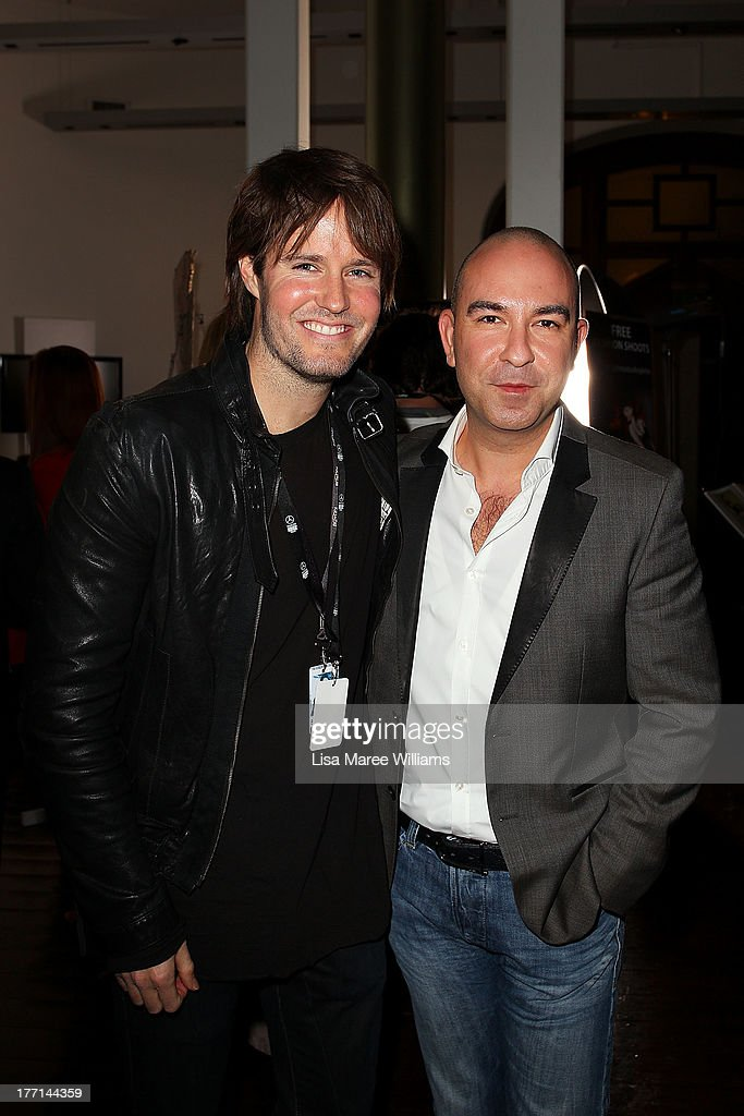 Jonathon Pease and Bruno Schiavi at the MBFWA Trends show after party during Mercedes-Benz Fashion Festival Sydney 2013 at Sydney Town Hall on August 21, 2013 in Sydney, Australia.