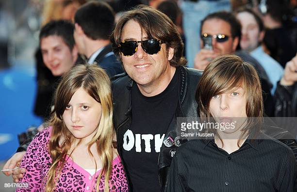 Jonathon Ross and his children Honey and Harvey arrive for the UK Film Premiere of 'Star Trek' at the Empire Leicester Square on April 20 2009 in...