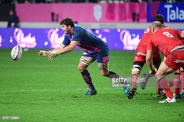 Jonathon Ross of Stade Francais Paris during the French Top 14 between Stade Francais and Lyon OU at Stade Jean Bouin on October 29 2016 in Paris...