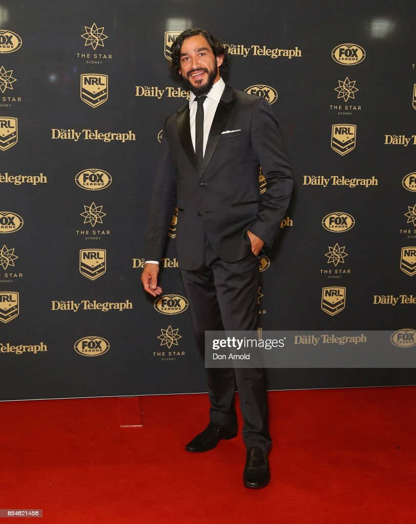 Jonathon Thurston arrives ahead of the Dally M Awards at The Star on September 27, 2017 in Sydney, Australia.