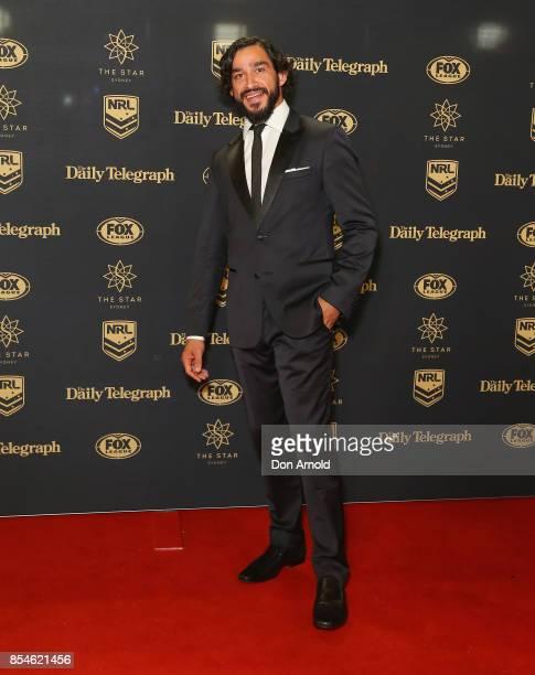 Jonathon Thurston arrives ahead of the Dally M Awards at The Star on September 27 2017 in Sydney Australia