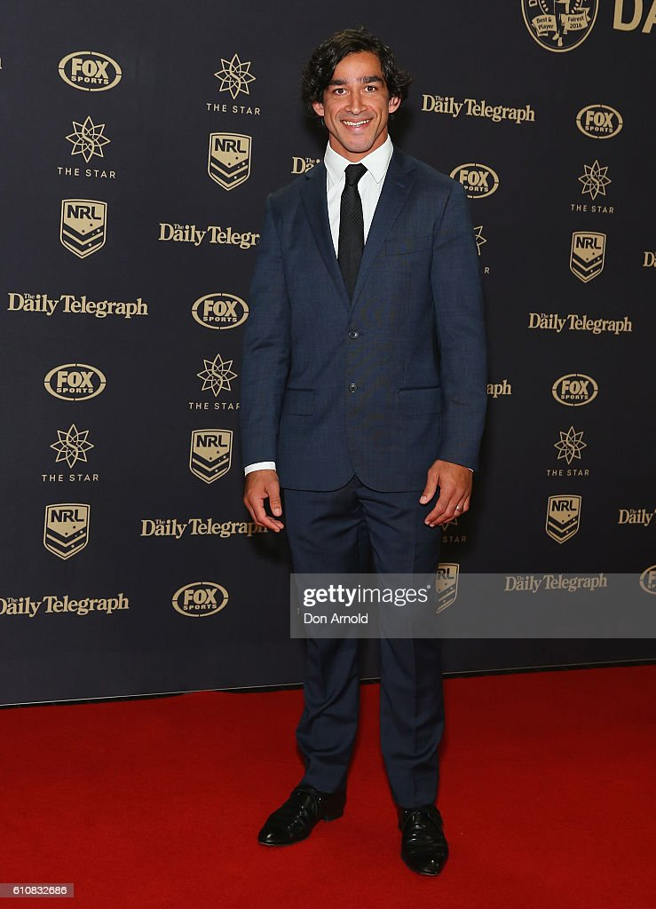 Jonathon Thurston arrives at the 2016 Dally M Awards at Star City on September 28, 2016 in Sydney, Australia.