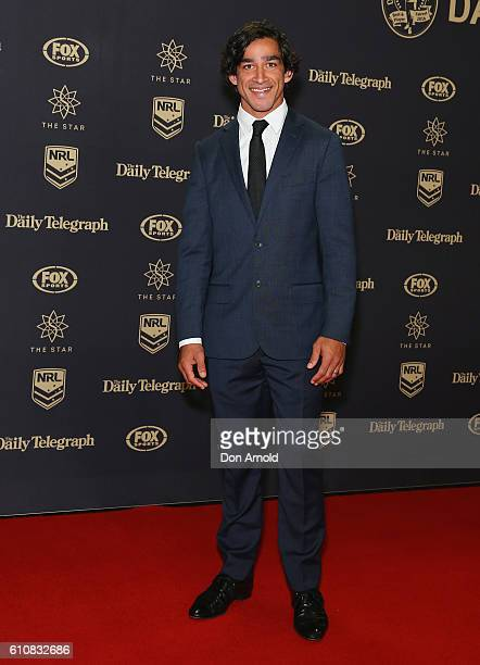 Jonathon Thurston arrives at the 2016 Dally M Awards at Star City on September 28 2016 in Sydney Australia