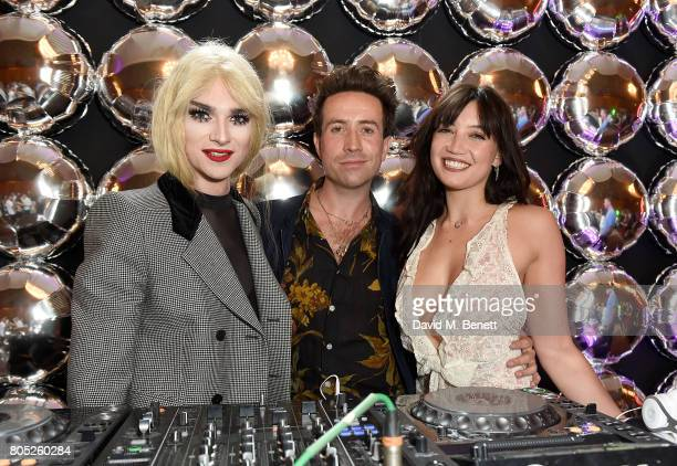 JonBenet Blonde Nick Grimshaw and Daisy Lowe at the Tinder Pride 2017 Party at The Ned on July 1 2017 in London England The party hosted by Tinder at...