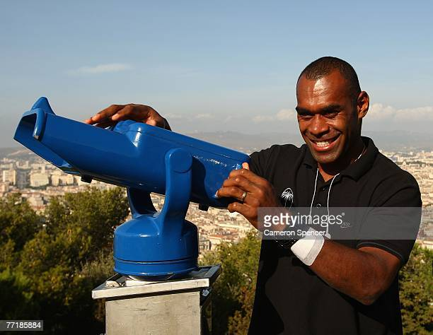 Jone Daunivucu of Fiji poses for a photo at the Basilique NotreDame de la Garde on October 4 2007 in Marseille France