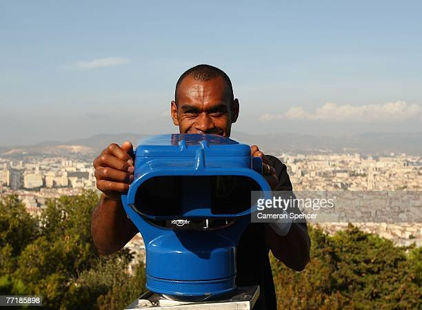 Jone Daunivucu of Fiji takes in the view at the Basilique NotreDame de la Garde on October 4 2007 in Marseille France