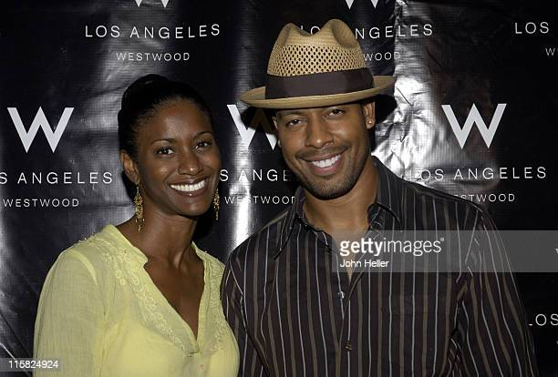 Jonell Kennedy and Morocco Omari during Westwood International Film Festival Party at W Hotel in Los Angeles California United States