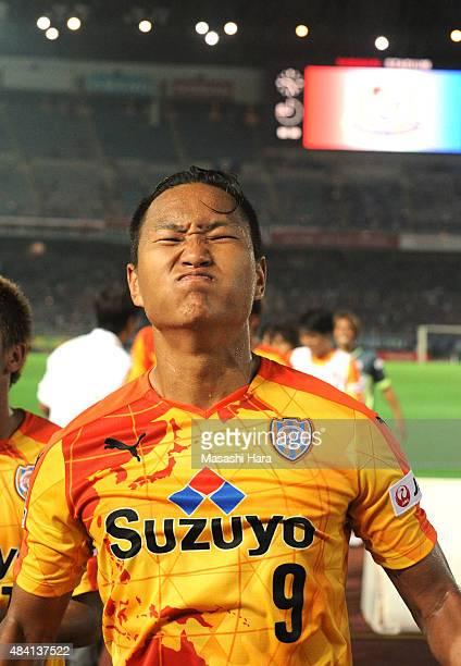 Jong Tae se of Shimizu SPulse looks on after their 21 win in the JLeague match between Yokohama FMarinos and Shimizu SPulse at Nissan Stadium on July...
