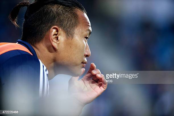 Jong Taese of Suwon Samsung FC looks on during the AFC Champions League Group G match between Suwon Samsung FC and Beijing Guoan at Suwon World Cup...