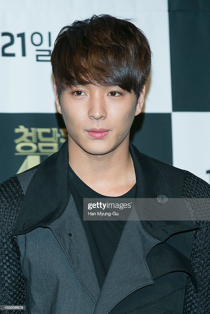 Jonghoon (Jong Hoon) of South Korean boy band FTisland attends tvN Drama 'Cheongdamdong 111' press conference at CGV on November 18, 2013 in Seoul, South Korea. The drama will open on November 21, in South Korea.