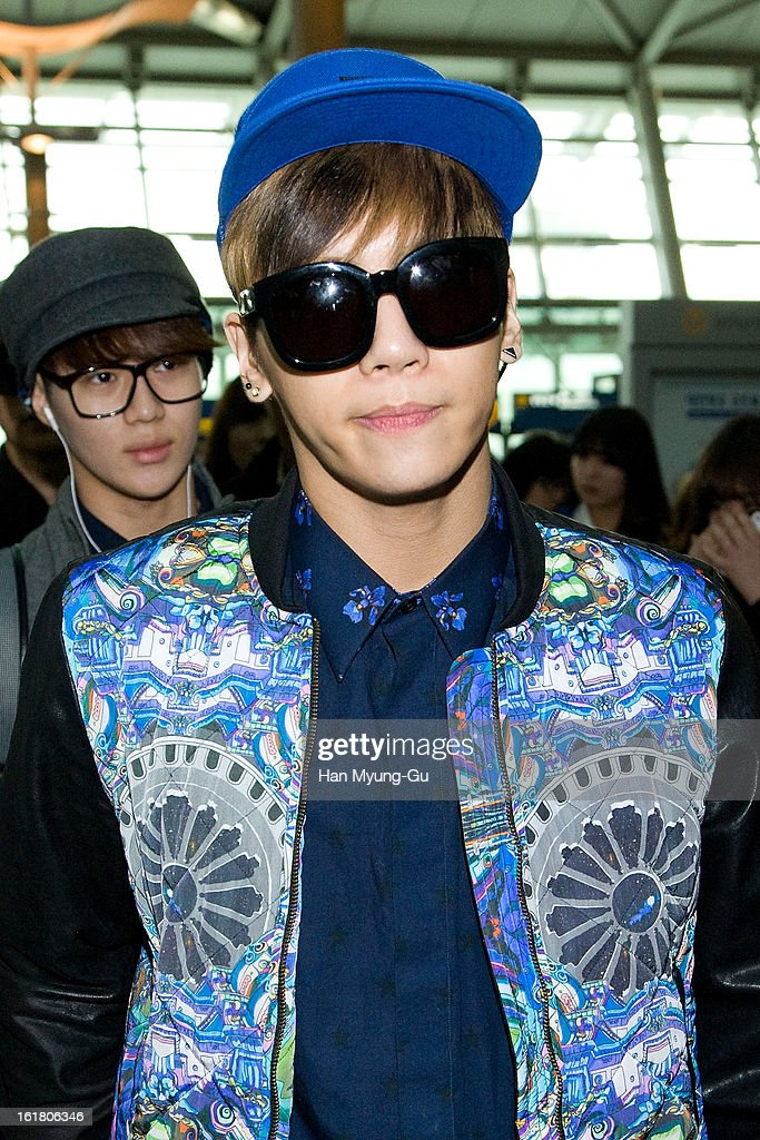 Jonghyun of South Korean boy band SHINee is seen at Incheon International Airport on February 16, 2013 in Incheon, South Korea.
