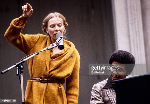 Joni Mitchell and Herbie Hancock perform during the Berkeley Jazz Festival at the Greek Theatre in September 1978 in Berkeley California