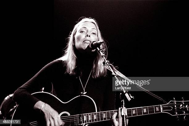Joni Mitchell performing at 'California Celebrates the Whales' at the Memorial Auditorium in Sacramento California on November 20 1976