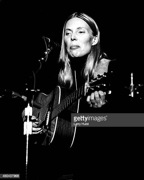 Joni Mitchell performing at the 'Save the Whales Benefit' in Memorial Auditorium in Sacramento California on November 20 1976