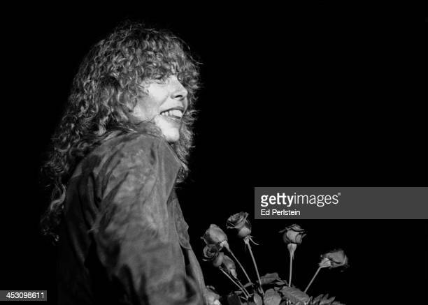 Joni Mitchell performs during the Berkeley Jazz Festival at the Greek Theatre in May 1979 in Berkeley California