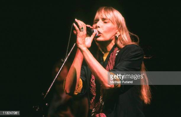 Joni Mitchell performs on stage at The Wall Concert Berlin 21st July 1990