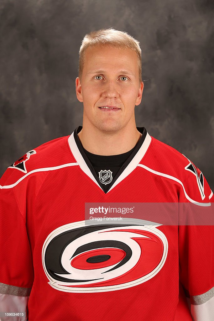 <a gi-track='captionPersonalityLinkClicked' href=/galleries/search?phrase=Joni+Pitkanen&family=editorial&specificpeople=204480 ng-click='$event.stopPropagation()'>Joni Pitkanen</a> #25 of the Carolina Hurricanes poses for his official headshot for the 2012-2013 season on January 13,2013 in Raleigh, North Carolina.