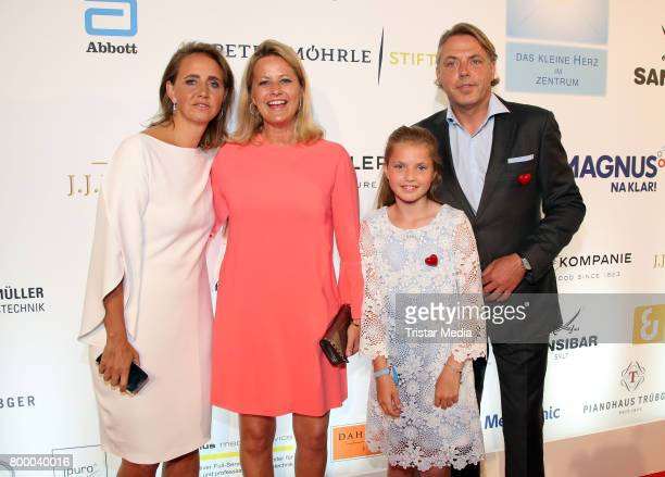 Jonica Jahr Meike Jahr and John Jahr attend the Charity Evening 'Das kleine Herz im Zentrum' at Curio Haus on June 22 2017 in Hamburg Germany