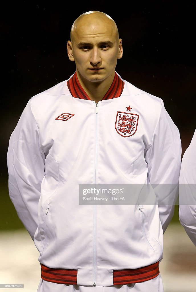 Jonjo Shelvey of England during the International Match between England Under 21's and Sweden Under 21's at Banks' Stadium on February 5, 2013 in Walsall, England.