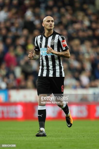 Jonjo Shelvey of Newcastle United during the Premier League match between Newcastle United and Liverpool at St James Park on October 1 2017 in...