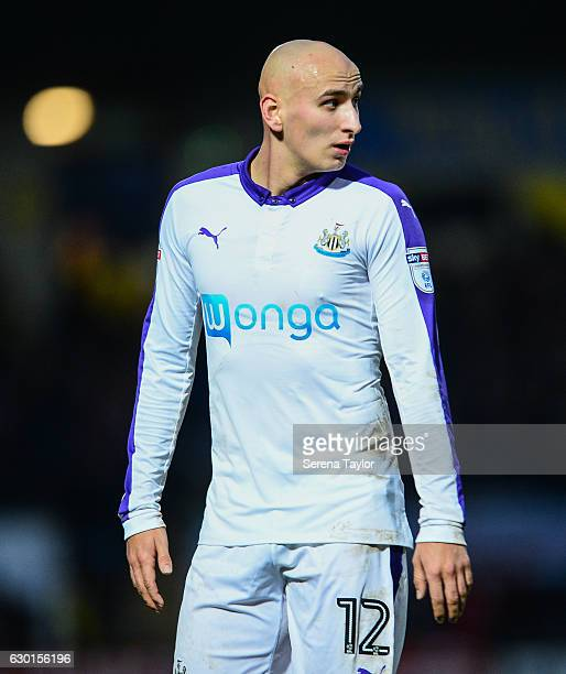 Jonjo Shelvey of Newcastle United during the Sky Bet Championship match between Burton Albion and Newcastle United at the Pirelli Stadium on December...