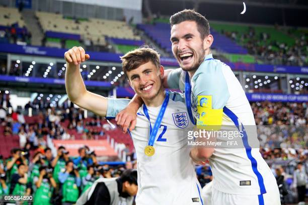 Jonjoe Kenny of England and Lewis Cook celebrate after defeating Venezuela 10 in the FIFA U20 World Cup Korea Republic 2017 Final match at Suwon...