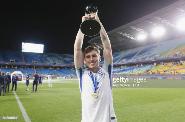 Jonjoe Kenny of England celebrates with the trophy after the FIFA U20 World Cup Korea Republic 2017 Final match between Venezuela and England at...