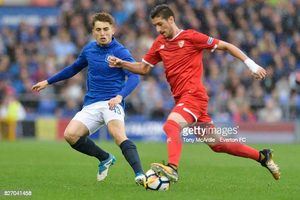 Jonjoe Kenny of Everton during the Pre Season Friendly match between Everton and Sevilla at Goodison Park on August 6 2017 in Liverpool England