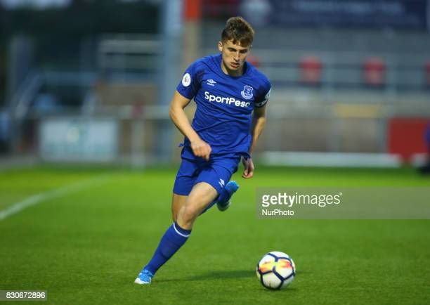 Jonjoe Kenny of Everton Under 23s during Premier League 2 Division 1 match between West Ham United Under 23s and Everton Under 23s at Dagenham and...