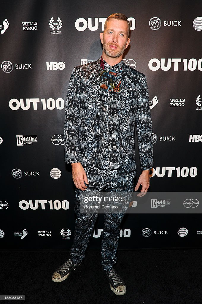 Jonjon Battkes attends the 2013 OUT100 gala at Terminal 5 on November 14, 2013 in New York City.