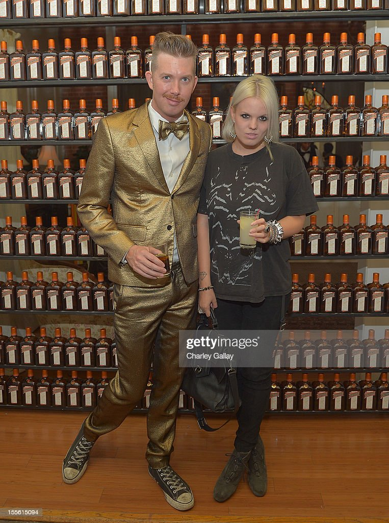 DJ Jonjon Battles (L) and Becka Diamond attend La Maison Cointreau Makes Its Los Angeles Debut at La Maison Cointreau on November 5, 2012 in Los Angeles, California.