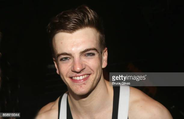 Jonno Davies poses backstage at the hit play 'A Clockwork Orange' at New World Stages on October 7 2017 in New York City