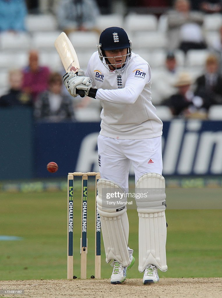 Jonny Bairstow of England batting during the LV= Challenge match between Essex and England at The Ford County Ground on July 2, 2013 in Chelmsford, England.