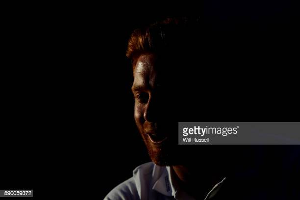 Jonny Bairstow of England Cricket speaks to media during the Yorkshire Tea's Big Cricket Quiz at Prince Lane on December 11 2017 in Perth Australia