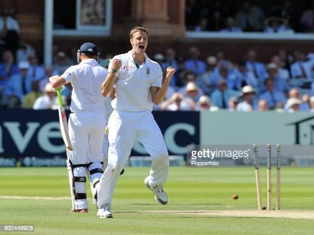Jonny Bairstow of England is bowled for 92 by Morne Morkel of South Africa during Day 3 of the 3rd Test between England and South Africa at Lord's...
