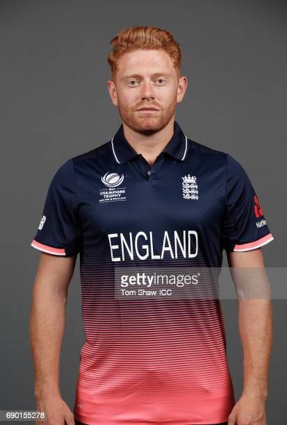 Jonny Bairstow of England poses for a portrait during the England Portrait session for the ICC Champions Trophy at Grange City on May 30 2017 in...