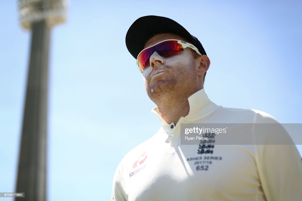 Jonny Bairstow of England walks out to field during day two of the Ashes series Tour Match between Western Australia XI and England at WACA on November 5, 2017 in Perth, Australia.