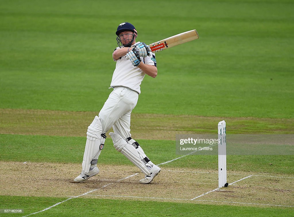 Jonny Bairstow of Yorkshier hits out during the Specsavers County Championship Division One match between Nottinghamshire and Yorkshire at Trent Bridge on May 2, 2016 in Nottingham, England.