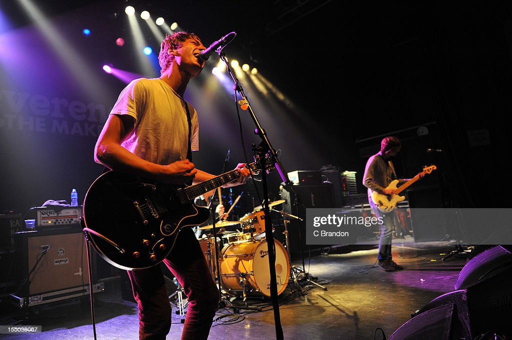 Jonny Brown and Stephen Evans of Twisted Wheel perform on stage at Shepherds Bush Empire on October 26, 2012 in London, United Kingdom.