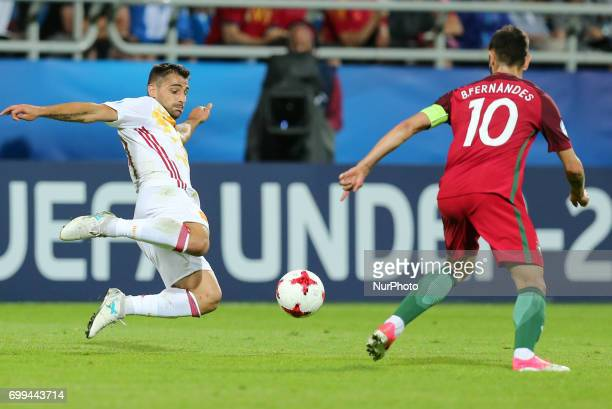 Jonny Bruno Fernandes during their UEFA European Under21 Championship match against Portugal on June 20 2017 in Gdynia Poland