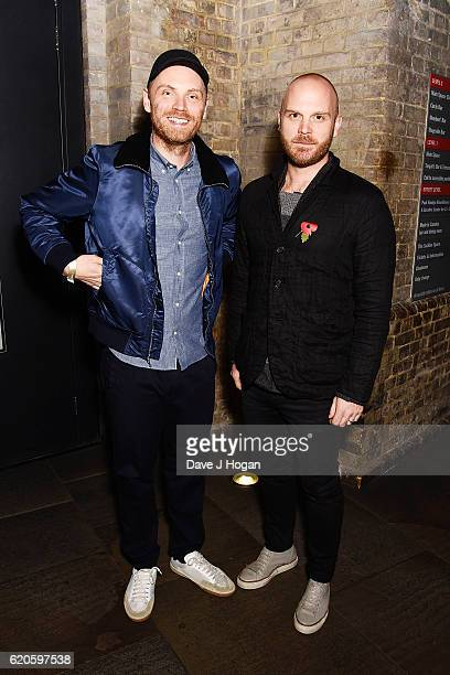 Jonny Buckland and Will Champion of Coldplay attend The Stubhub Q Awards 2016 at The Roundhouse on November 2 2016 in London England