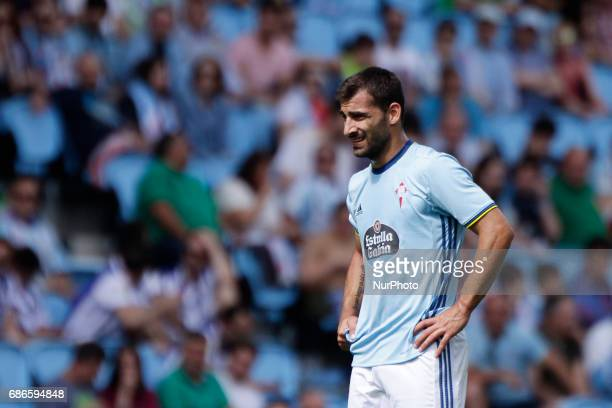 Jonny Castro defender of Celta de Vigo during the La Liga Santander match between Celta de Vigo and Real Sociedad de Futbol at Balaidos Stadium on...