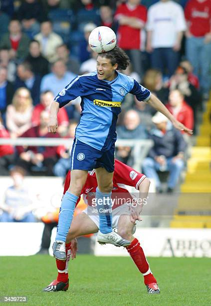 Jonny Dixon in action during the Nationwide Division Two match between Wycombe Wanderers and Swindon Town at Causeway Stadium on April 17 2004 in...