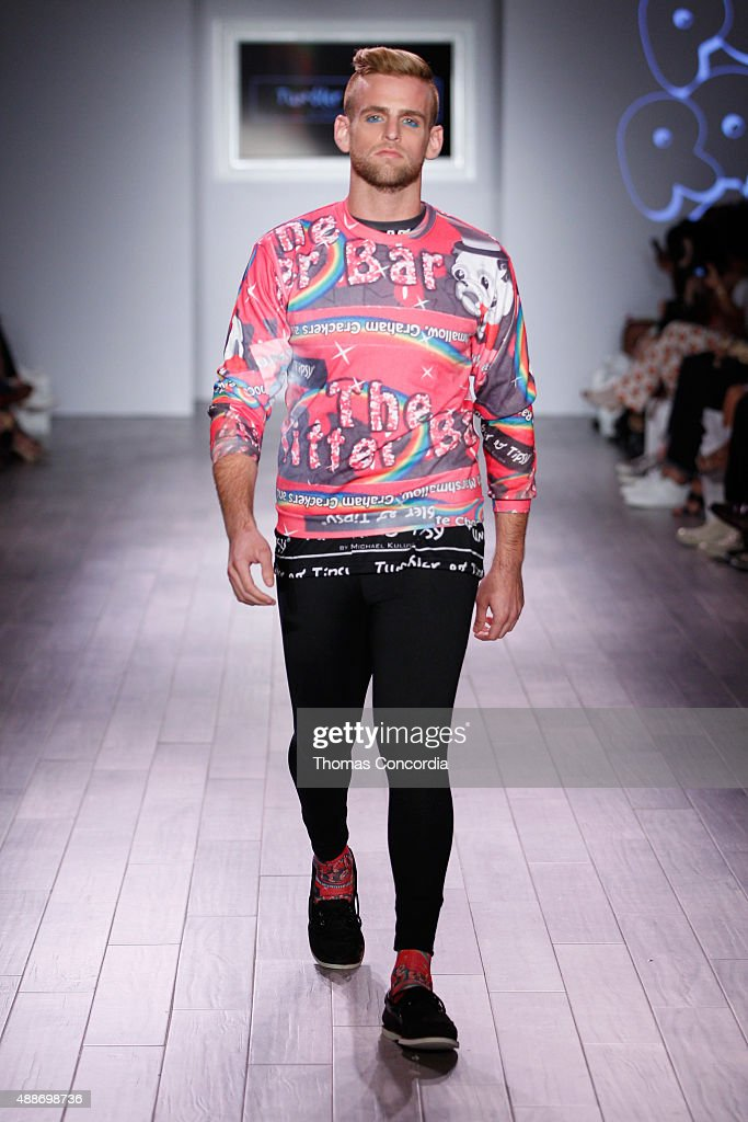 Jonny Drubel walks the runway during KIA STYLE360 hosts Tumbler and Tipsy by Michael Kuluva on September 16 2015 in New York City